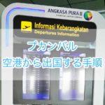 プカンバル空港から出国する手順と所要時間を詳しく解説