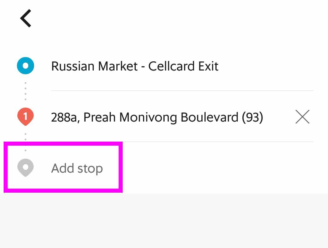 Add stopで経由地を追加する