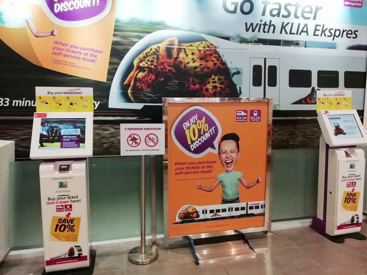 KLIAエクスプレスのチケット販売機