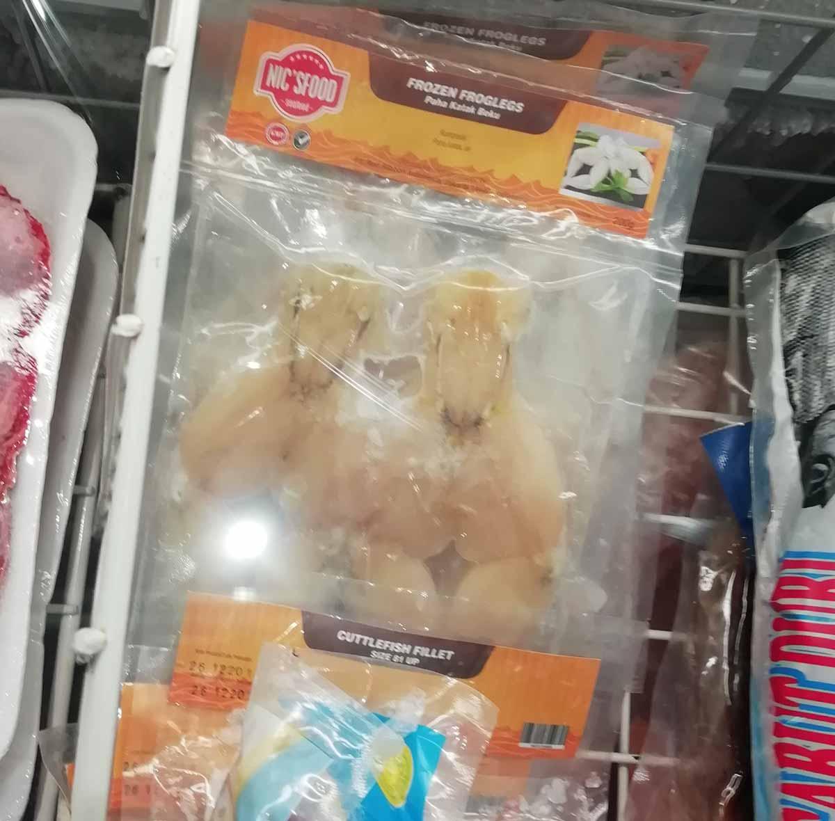 冷凍のカエル