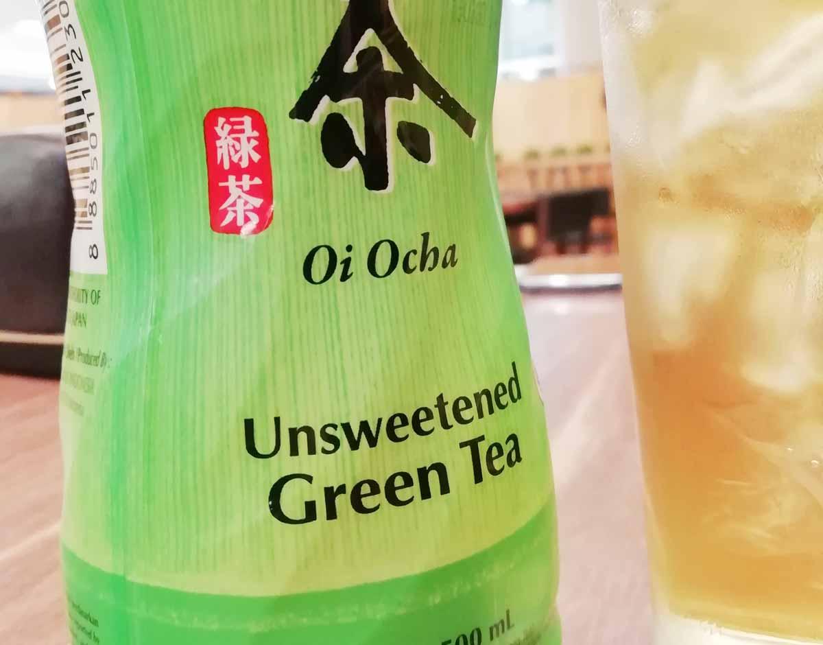お茶は「Unsweetened」が甘くない
