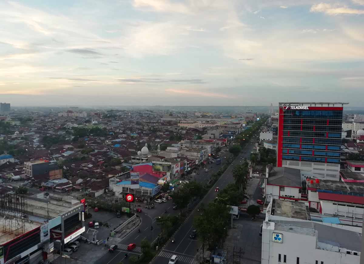 最上階から見たプカンバルの街