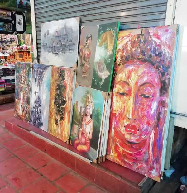 カンボジアをモチーフにした絵画