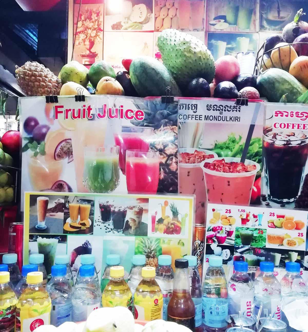 フルーツジュースなどを売ってる店