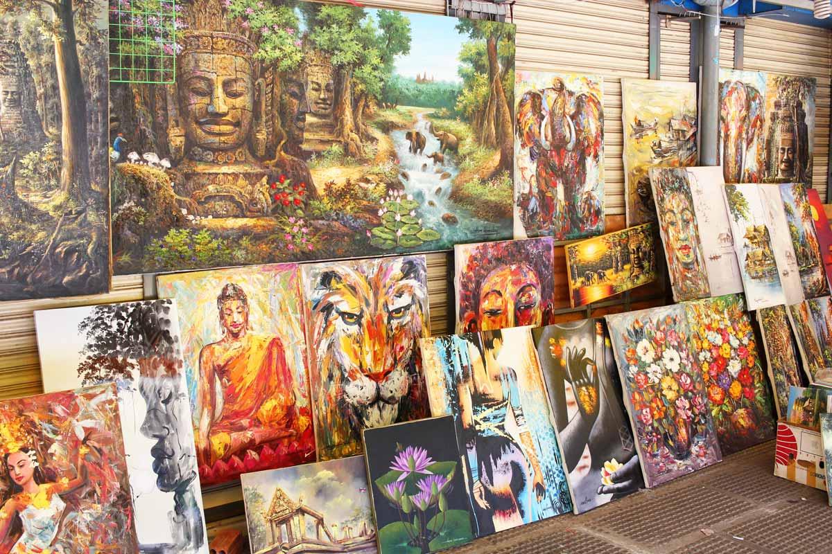 カンボジアの絵画