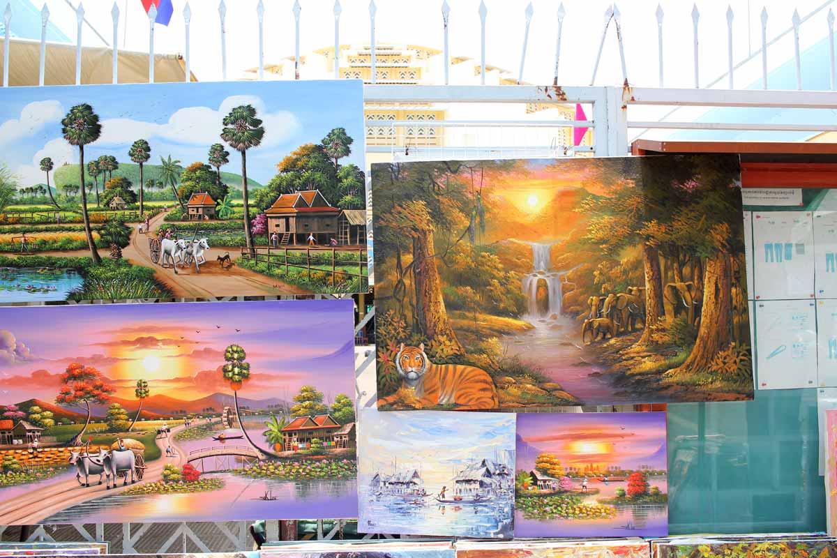 カンボジアの田舎の風景