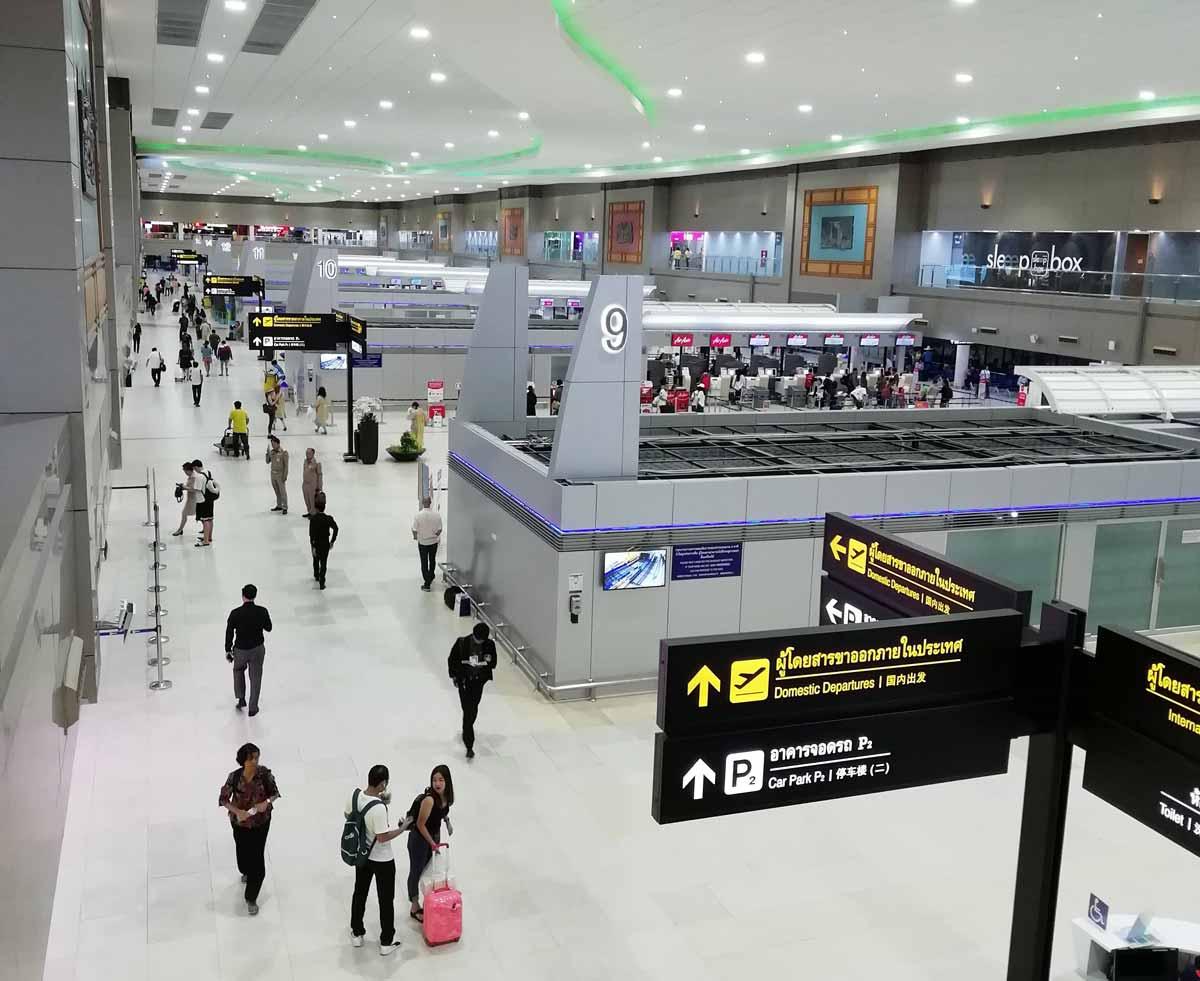 ドンムアン空港の出国カウンター