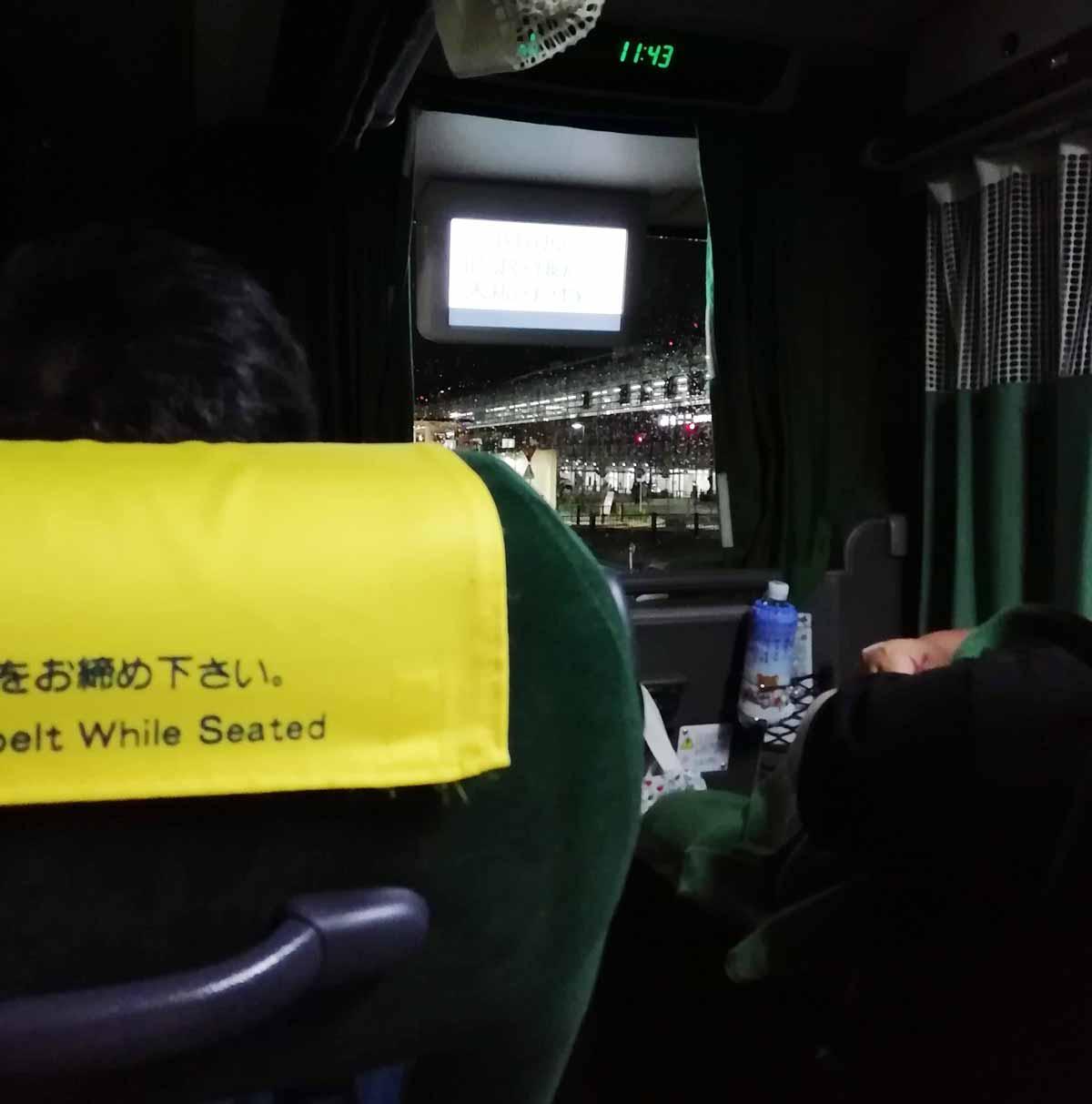 江ノ電バスの車内