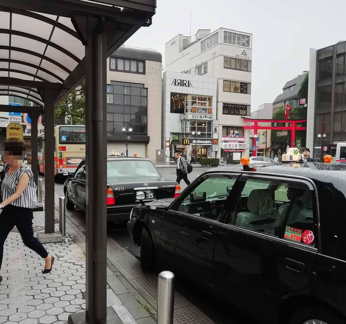 鎌倉駅前のロータリー