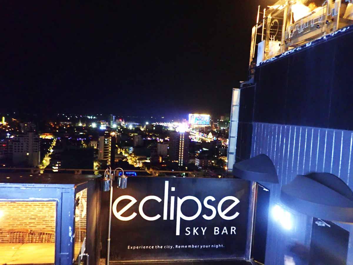 Eclipse Sky Barからメコン河の方を見た景色