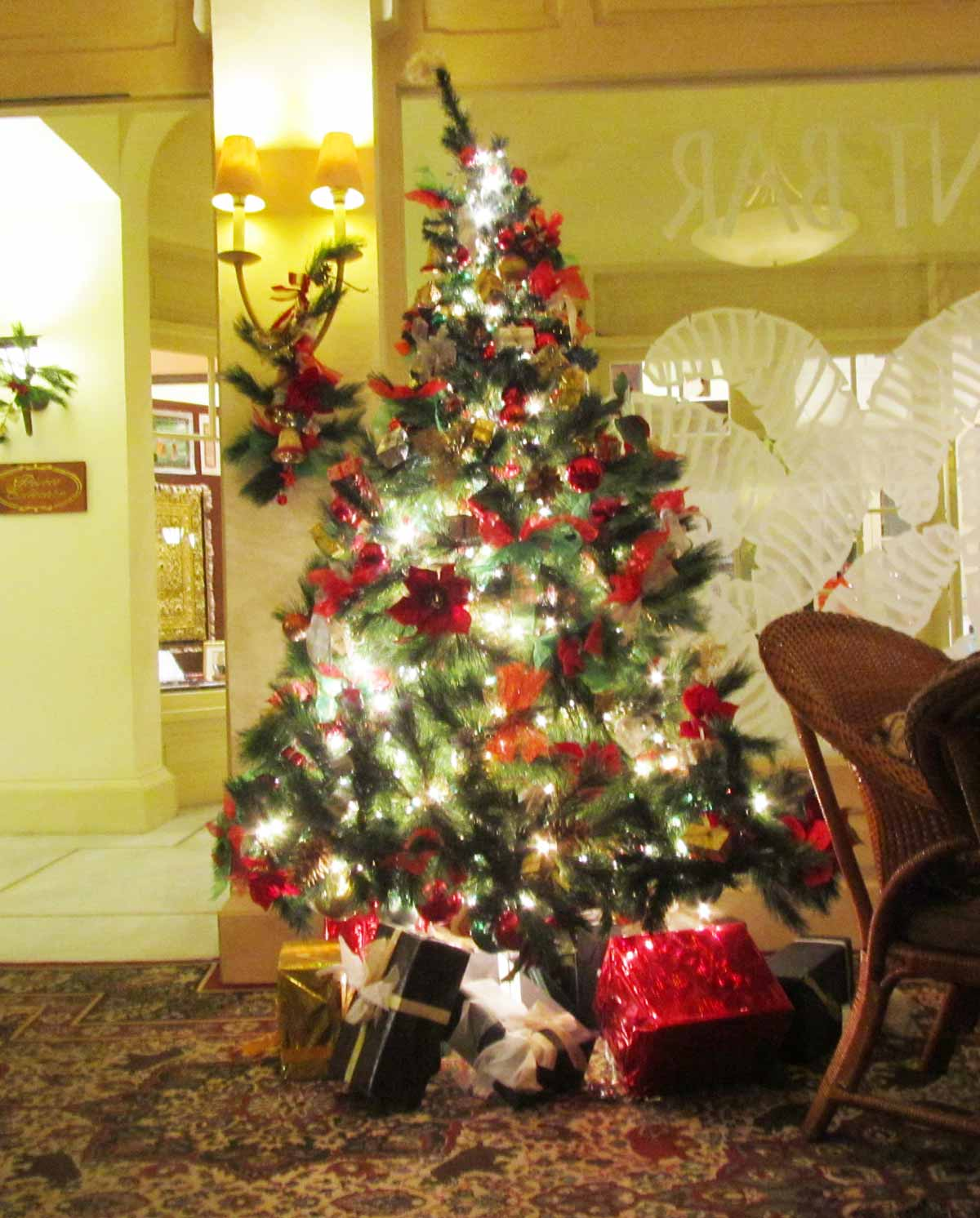 エレファントバーのクリスマスツリー