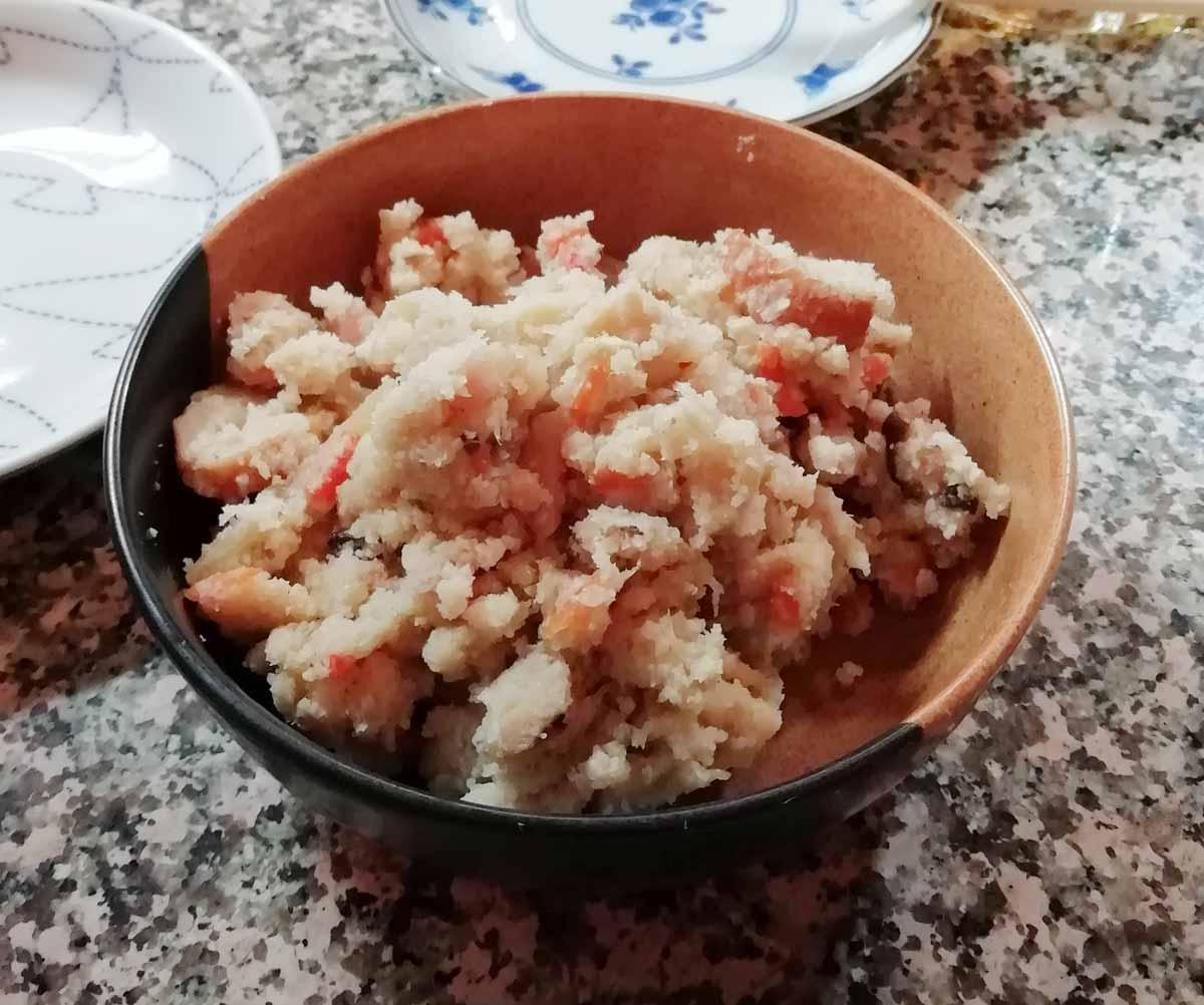 有名豆腐店のおからを使った卯の花