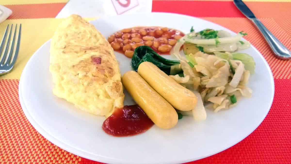 フランジパニロイヤルパレスの朝食