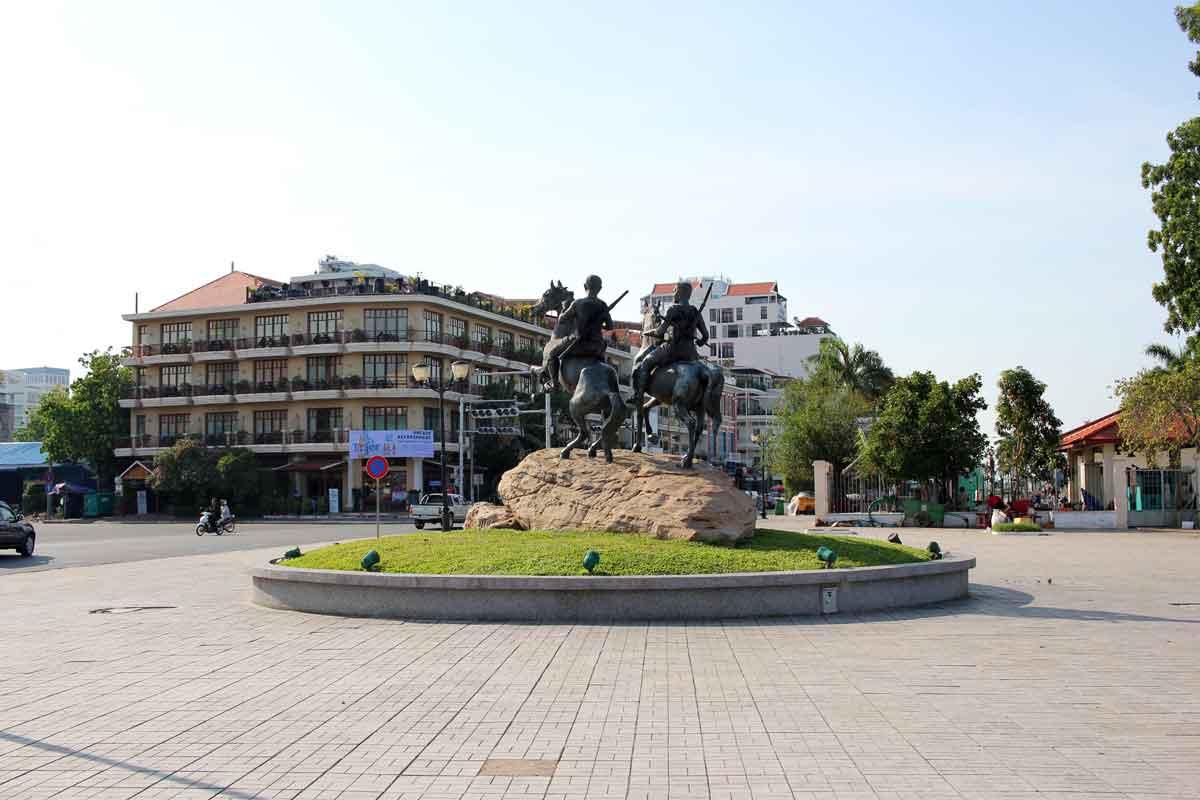公園にある銅像
