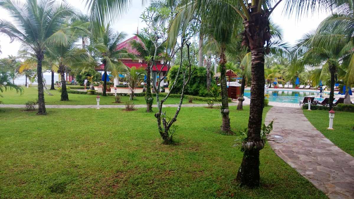 ソカビーチリゾートの庭