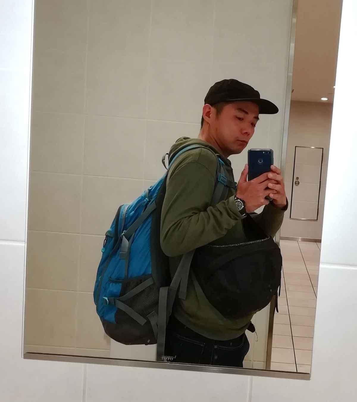 カンボジアに行くときのバックパック
