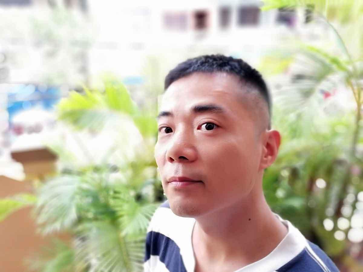 散髪後の写真