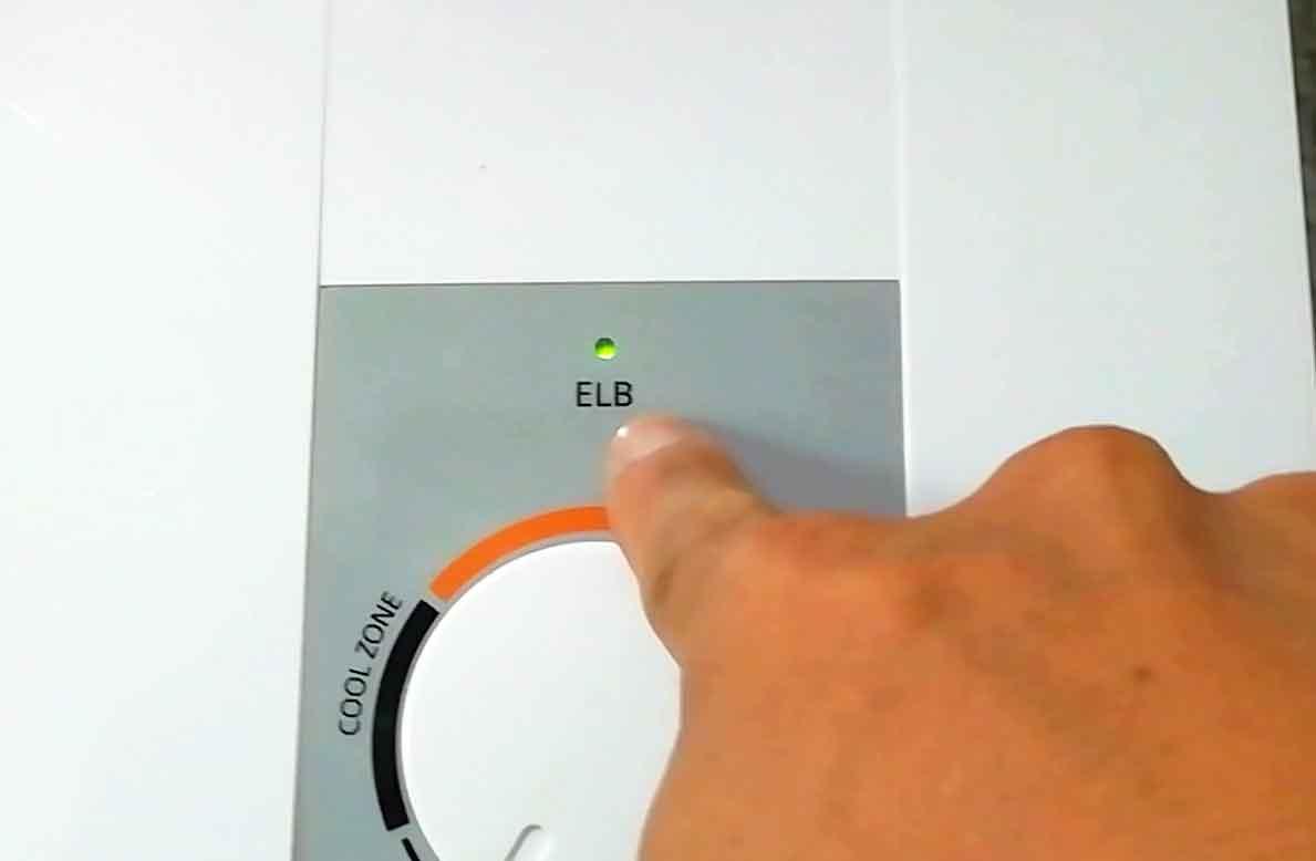 シャワーの電源ランプ