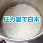 圧力鍋でごはん(白米)を炊く方法
