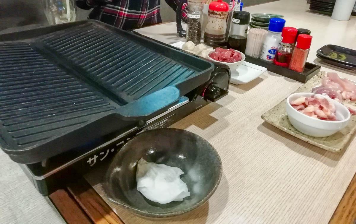 鶏の鉄板焼き
