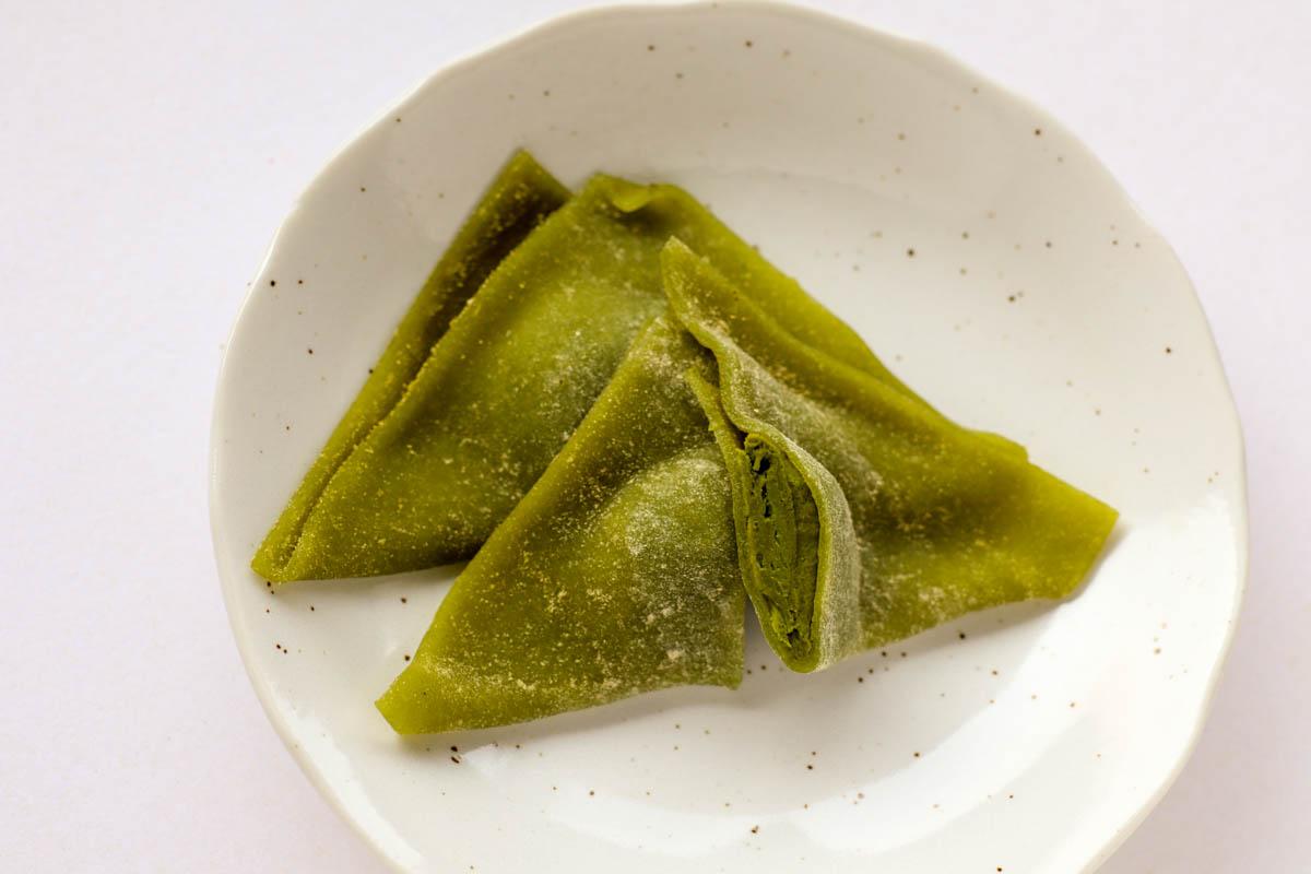 夕子(京都祇園抹茶チョコレート)の断面