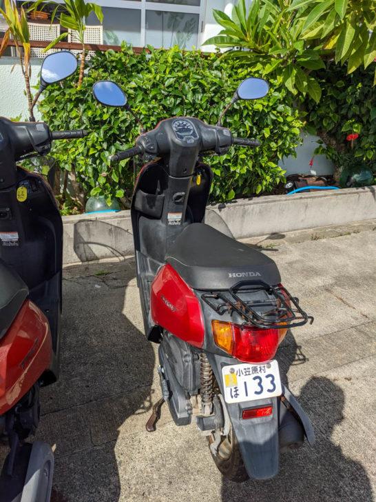 ダイブリゾート母島のレンタルバイク