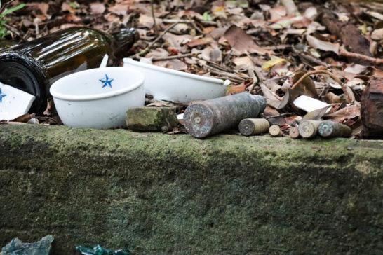 陸軍の皿や弾丸など