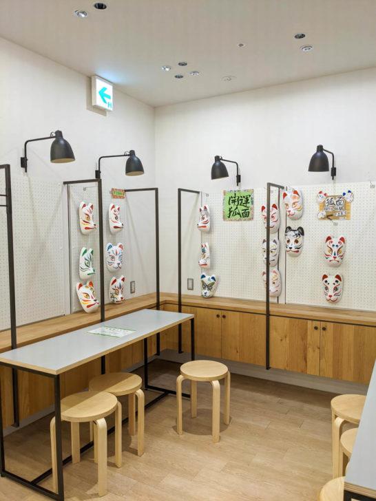 京都タワーサンド2階のオープンスペース