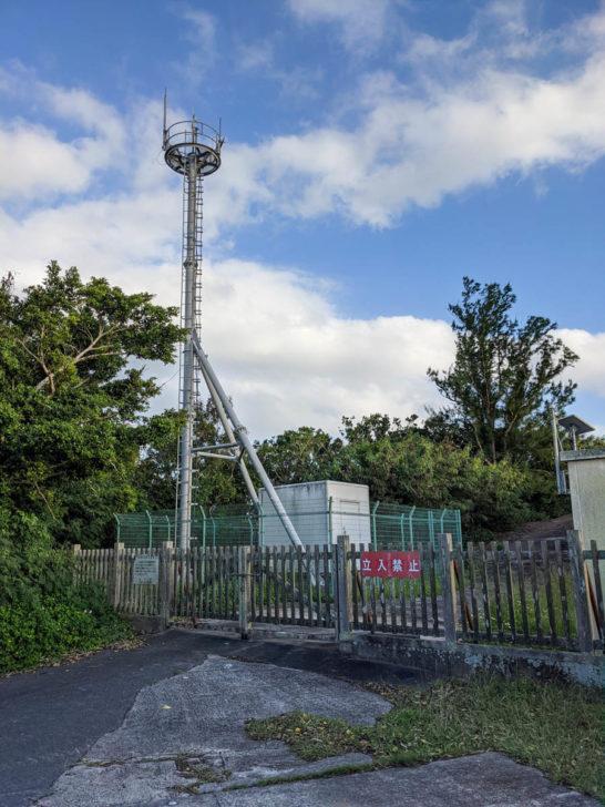 ウェザーステーション展望台にある気象観測の機械