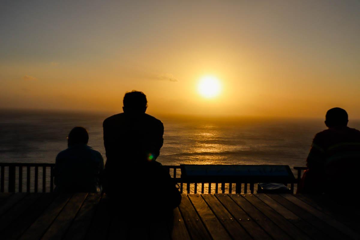 ウェザーステーション展望台の夕日