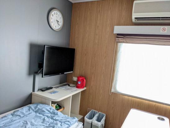 1等室のテレビ