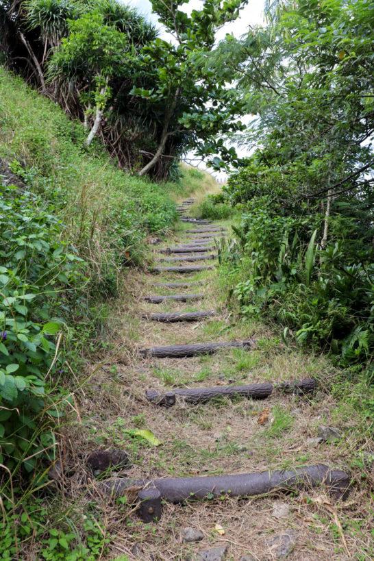 中山峠へと上がる道