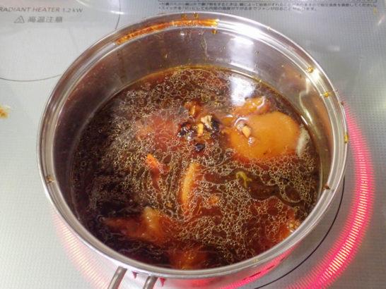 グレービーソースに鶏の脂を入れる