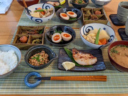 2日目朝食は和食