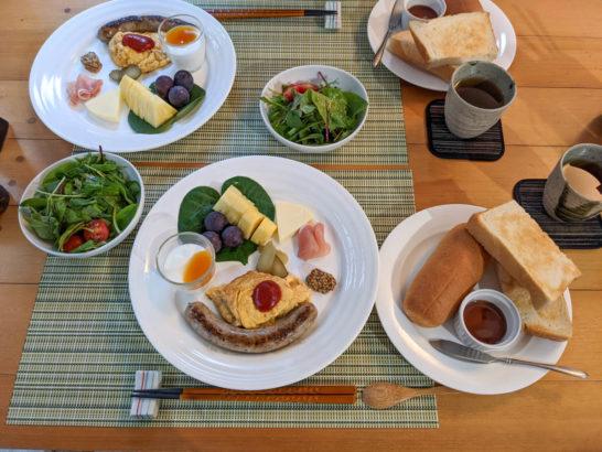 3日目の朝食は洋食