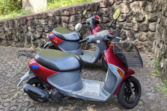 小笠原観光で借りたバイク