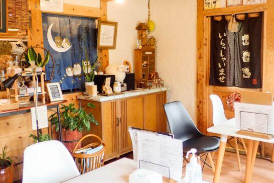美流のカフェ店内
