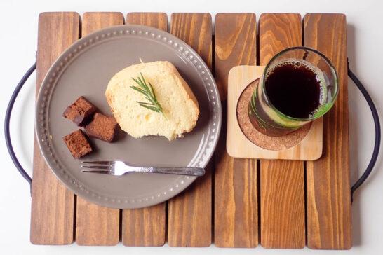 シフォンケーキとローチョコレート